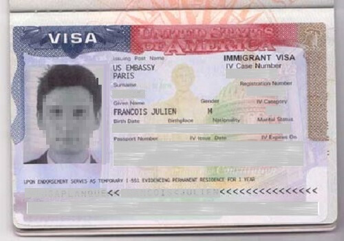 US Immigrant Visa